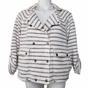 Anthro   Dolan Stripe Button Front SweaterJacket S